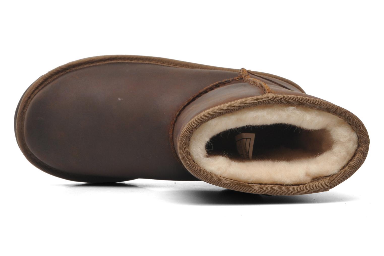 Laarzen UGG K Classic Short Leather Bruin links