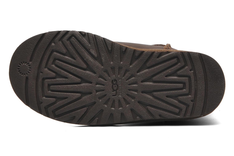 Stiefel UGG K Classic Short Leather braun ansicht von oben