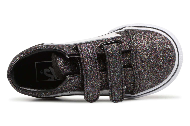(Glitter) Rainbow Black Vans Old Skool V BB (Noir)