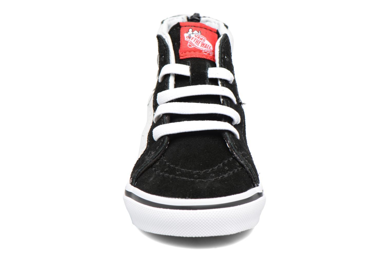 Sneaker Vans SK8-Hi Zip BB schwarz schuhe getragen