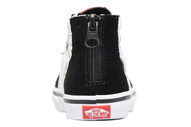 Sneaker Vans SK8-Hi Zip BB schwarz ansicht von rechts