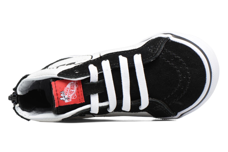 Sneaker Vans SK8-Hi Zip BB schwarz ansicht von links