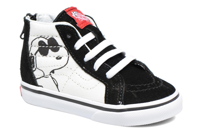 Sneaker Vans SK8-Hi Zip BB schwarz detaillierte ansicht/modell