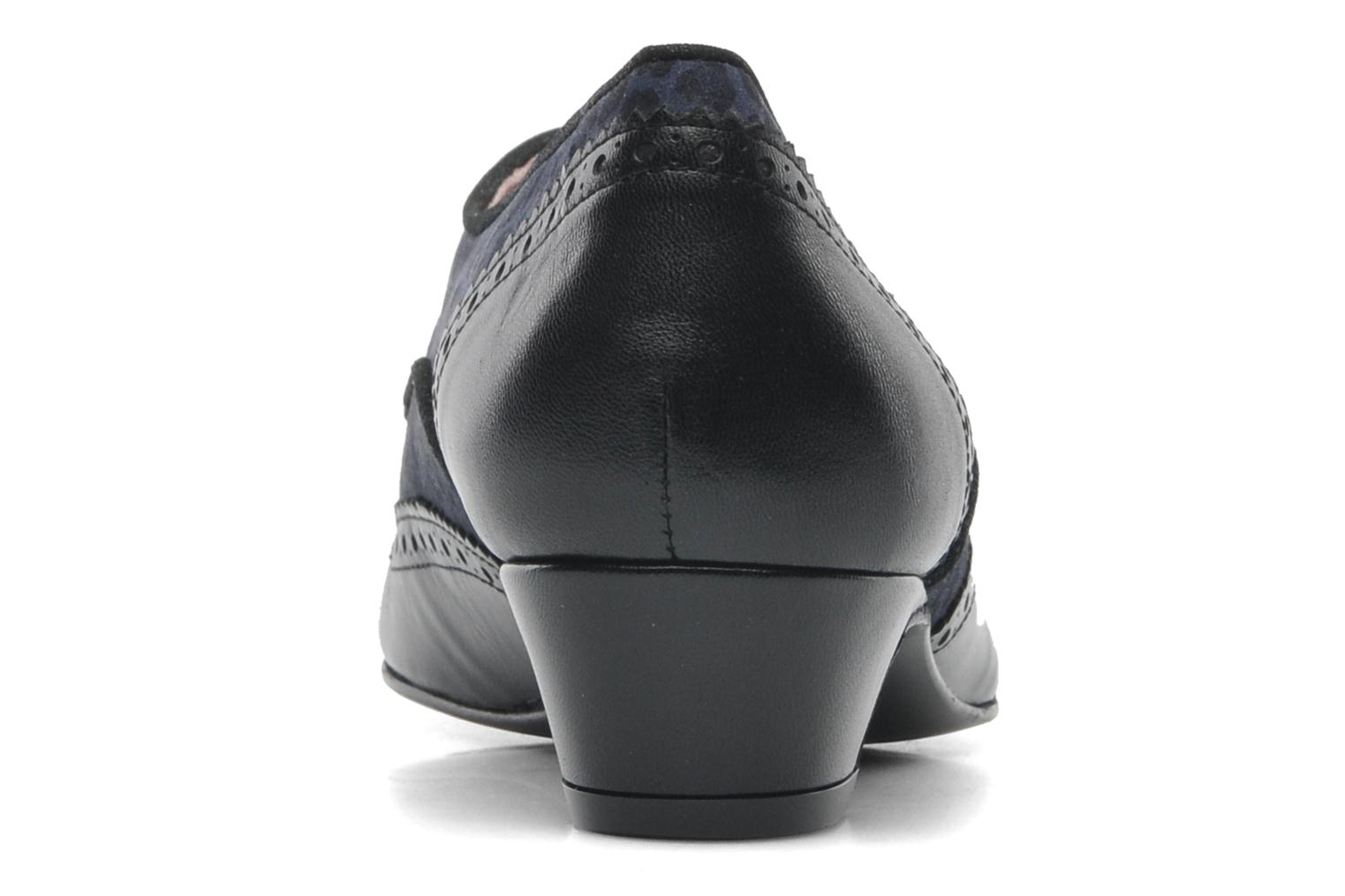 Lace-up shoes Annabel Winship Italiano Black view from the right