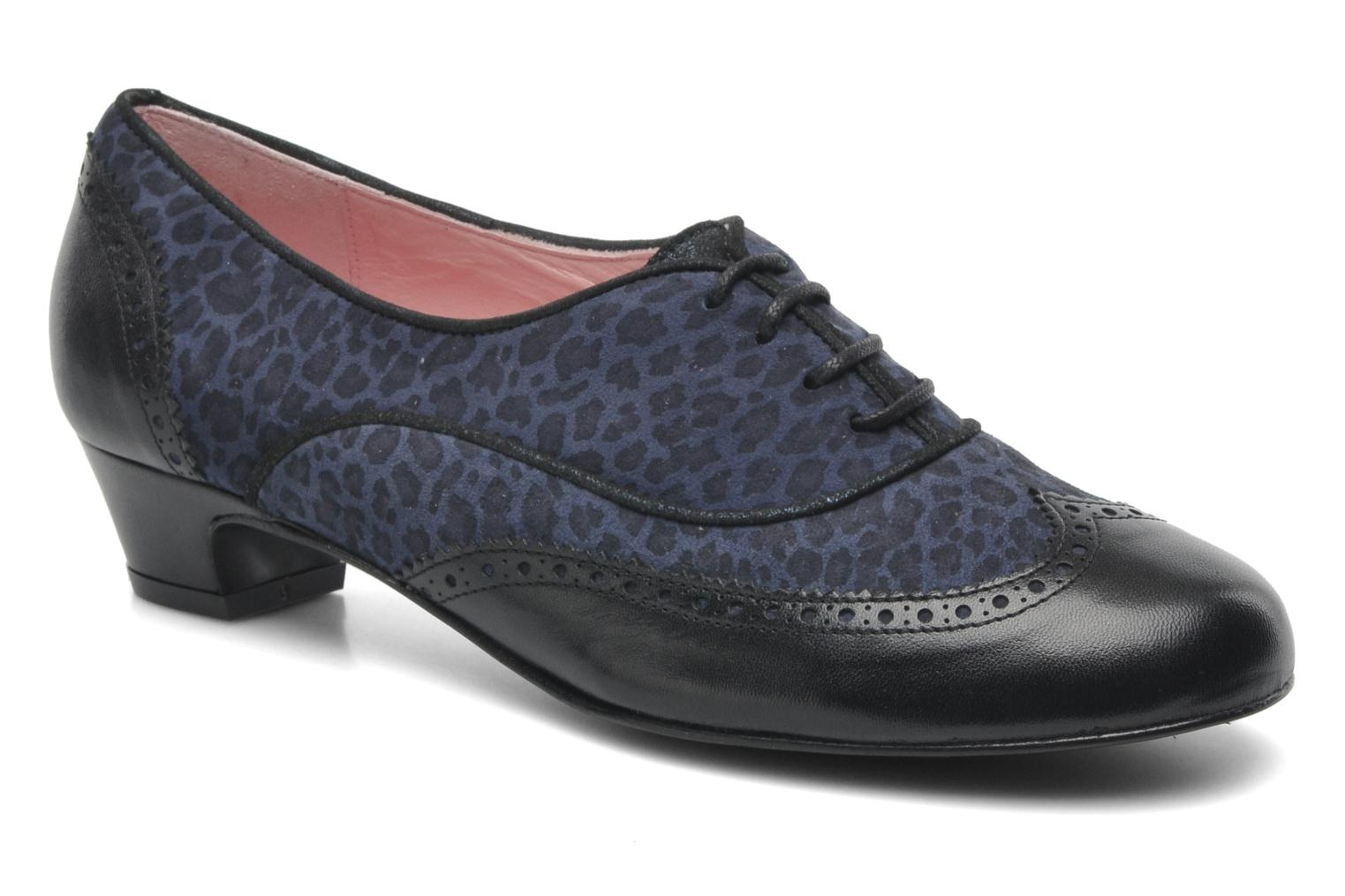 Lace-up shoes Annabel Winship Italiano Black detailed view/ Pair view