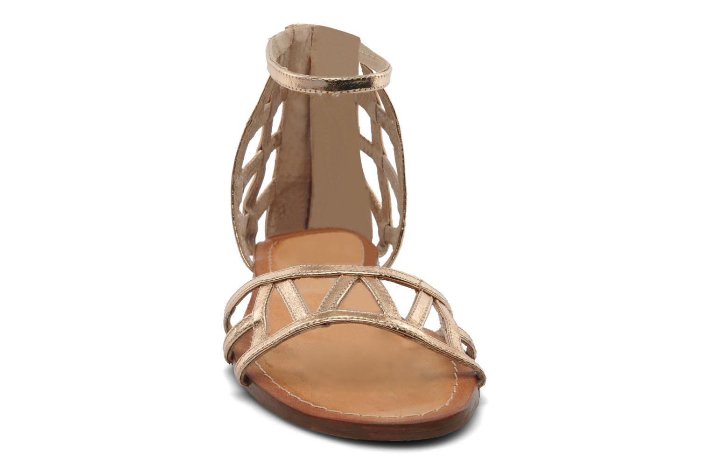 Sandales et nu-pieds Jonak Jessy Or et bronze vue portées chaussures