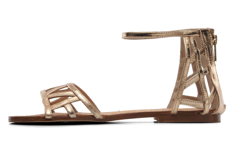 Sandales et nu-pieds Jonak Jessy Or et bronze vue face