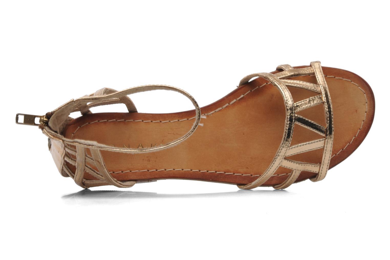 Sandales et nu-pieds Jonak Jessy Or et bronze vue gauche