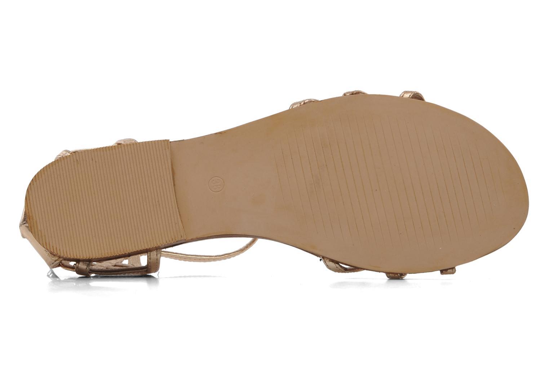 Sandales et nu-pieds Jonak Jessy Or et bronze vue haut