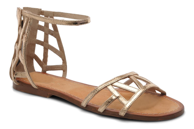 Sandales et nu-pieds Jonak Jessy Or et bronze vue détail/paire
