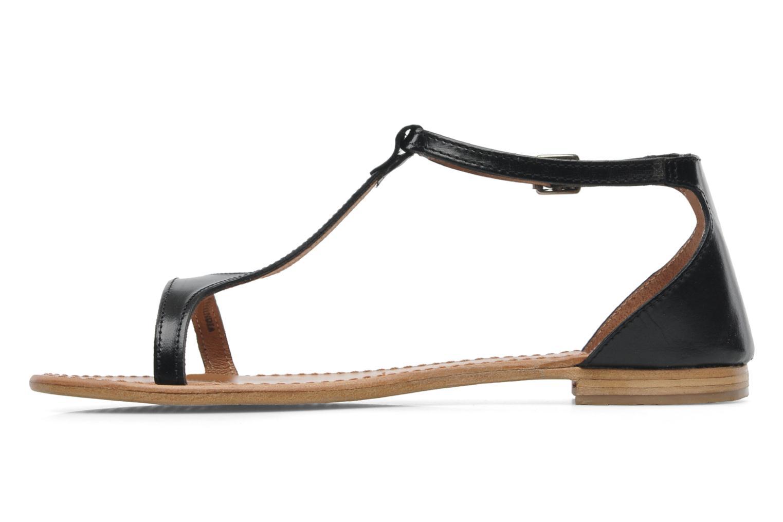 Sandalen Les Tropéziennes par M Belarbi Trefle schwarz ansicht von vorne