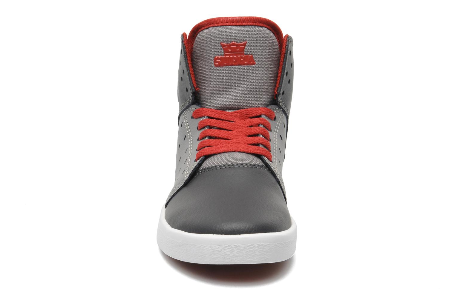 Atom Kids Grey/charcoal/red white