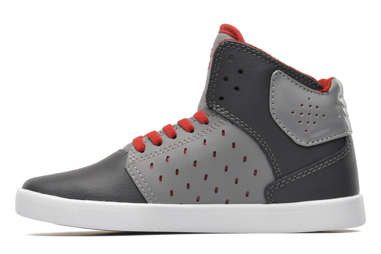Sneaker Supra Atom Kids grau ansicht von vorne