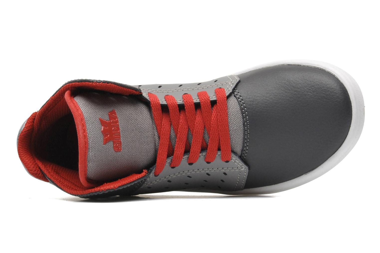 Sneaker Supra Atom Kids grau ansicht von links