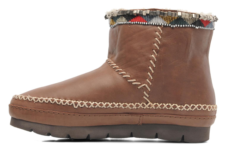 Bottines et boots Laidback London Nyali Marron vue face