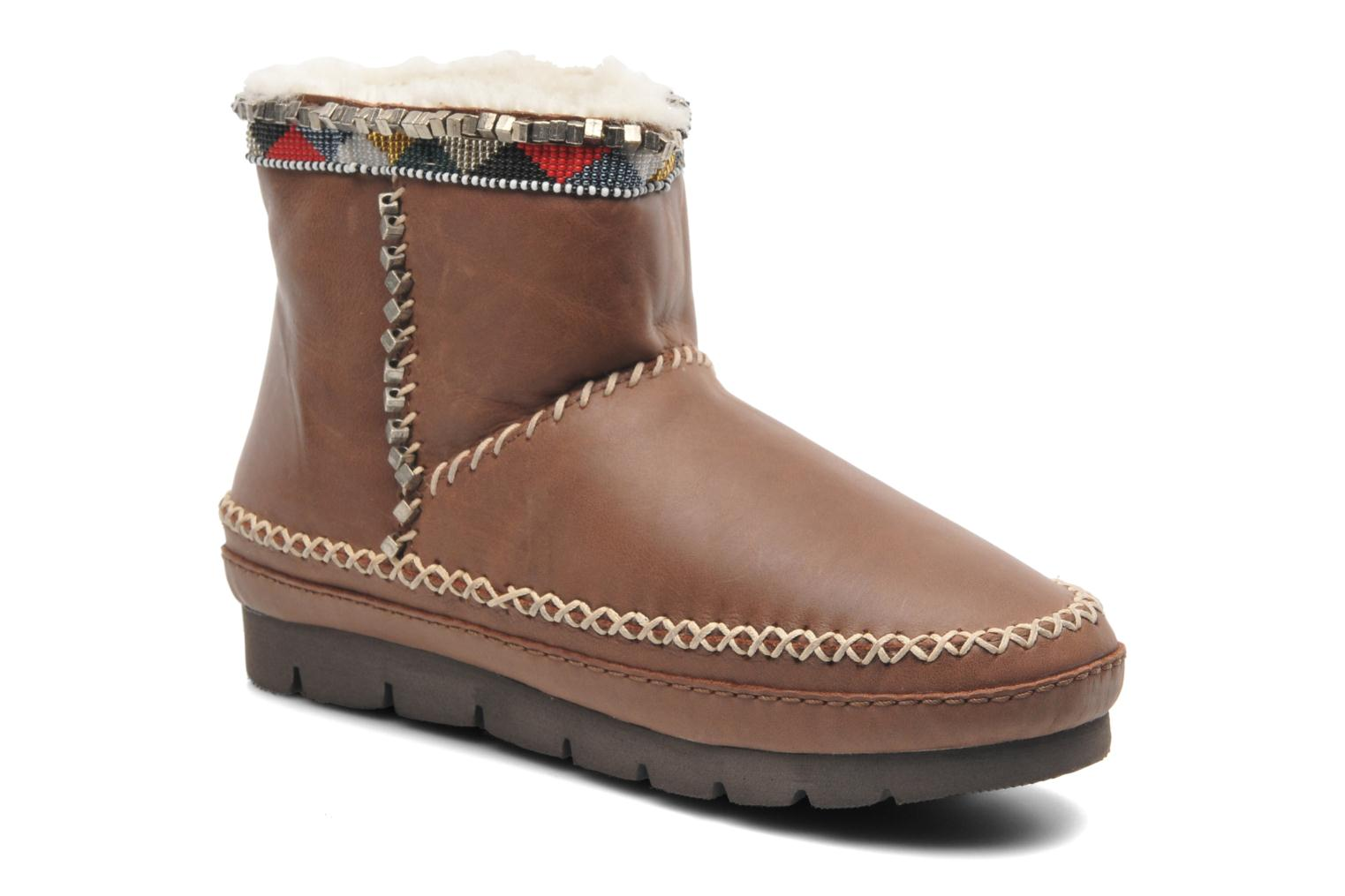 Ankle boots Laidback London Nyali Brown detailed view/ Pair view