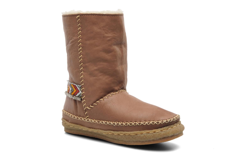 Boots en enkellaarsjes Laidback London Naira Bruin detail