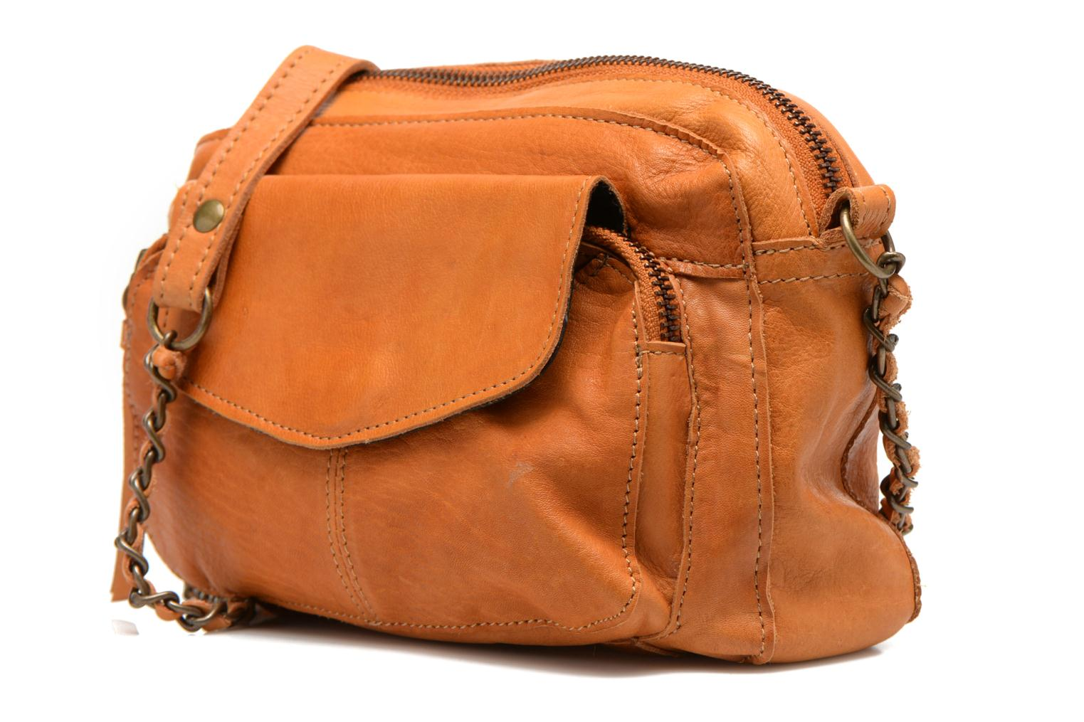 Handtassen Pieces Naina leather Crossover new Bruin model