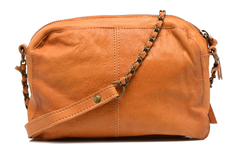 Handtaschen Pieces Naina leather Crossover new braun ansicht von vorne