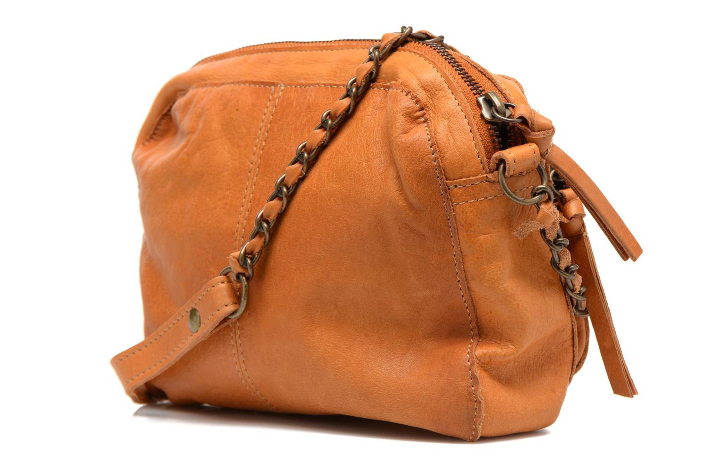 Handtaschen Pieces Naina leather Crossover new braun ansicht von rechts