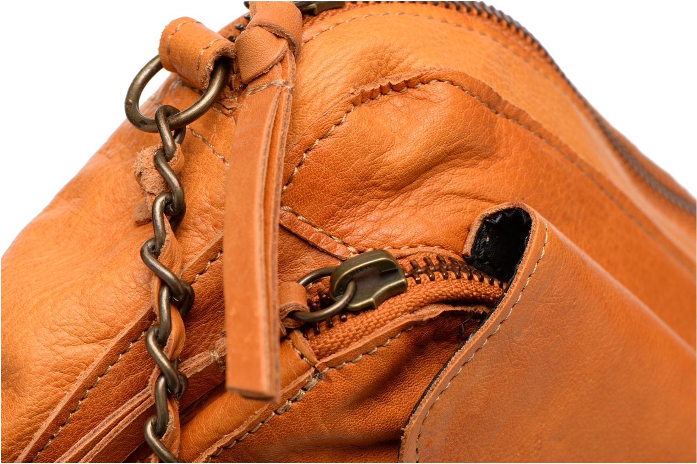 Handtaschen Pieces Naina leather Crossover new braun ansicht von links