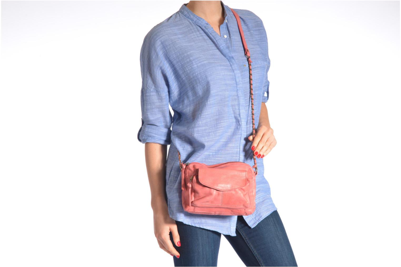 Handtaschen Pieces Naina leather Crossover new braun ansicht von oben