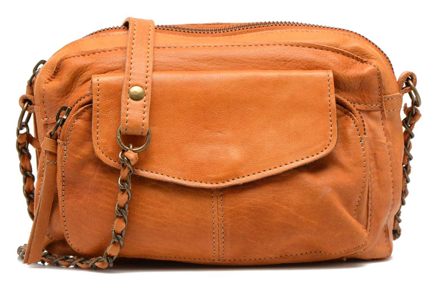 Handtassen Pieces Naina leather Crossover new Bruin detail