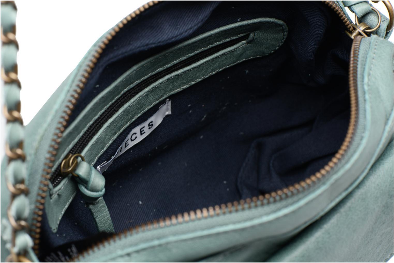 Sacs à main Pieces Naina leather Crossover new Vert vue derrière
