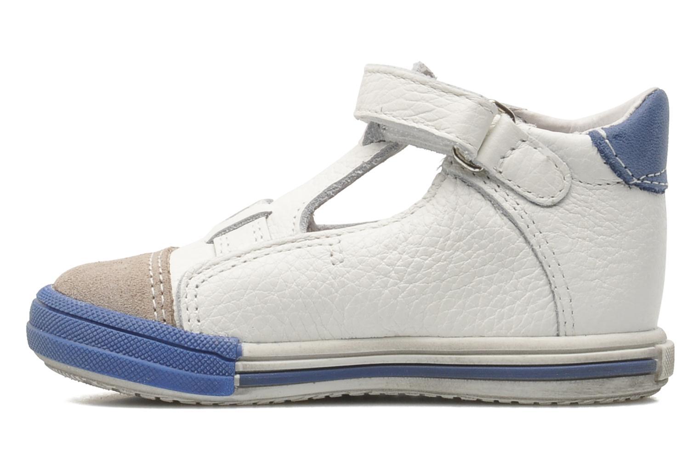 Velcro shoes Bopy Zanar White front view