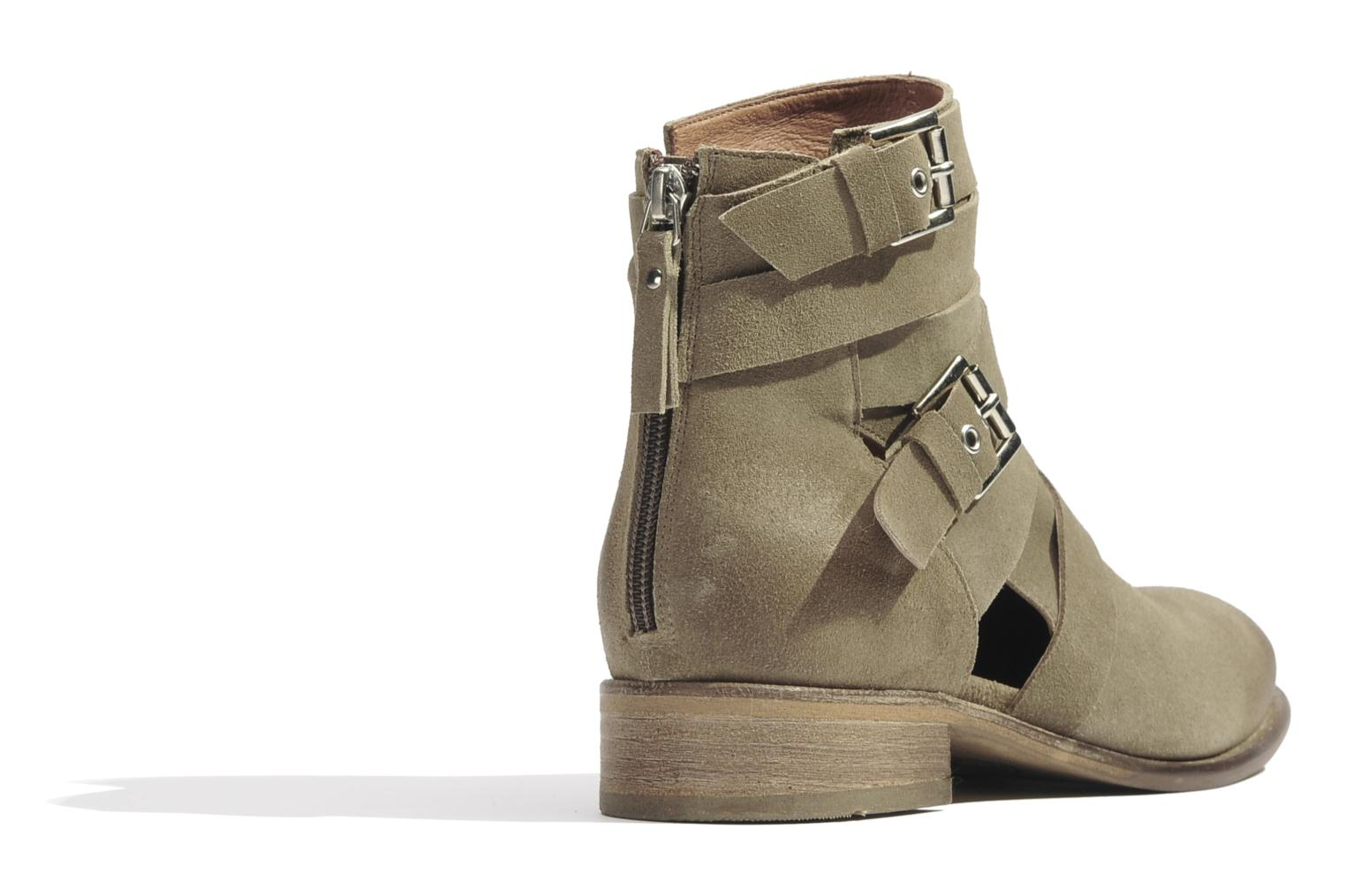 Ankle boots Made by SARENZA Buttes-Chaumont #7 Beige front view