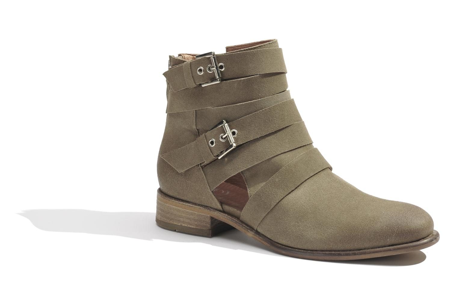 Ankle boots Made by SARENZA Buttes-Chaumont #7 Beige view from the right