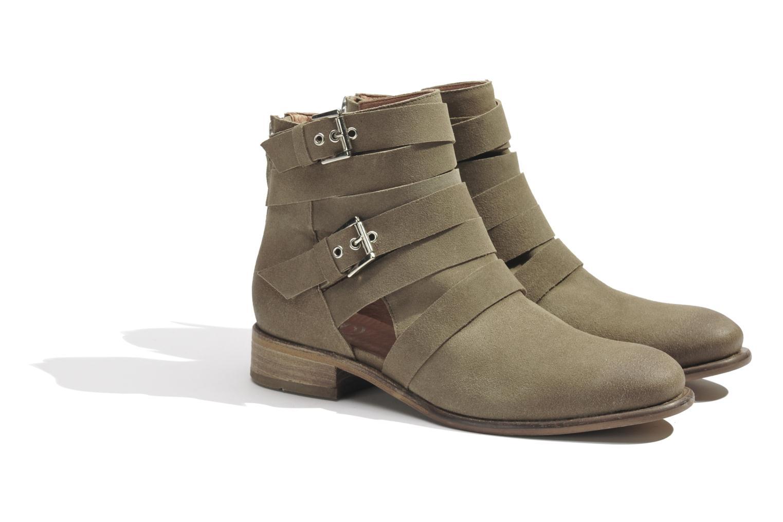 Bottines et boots Made by SARENZA Buttes-Chaumont #7 Beige vue derrière