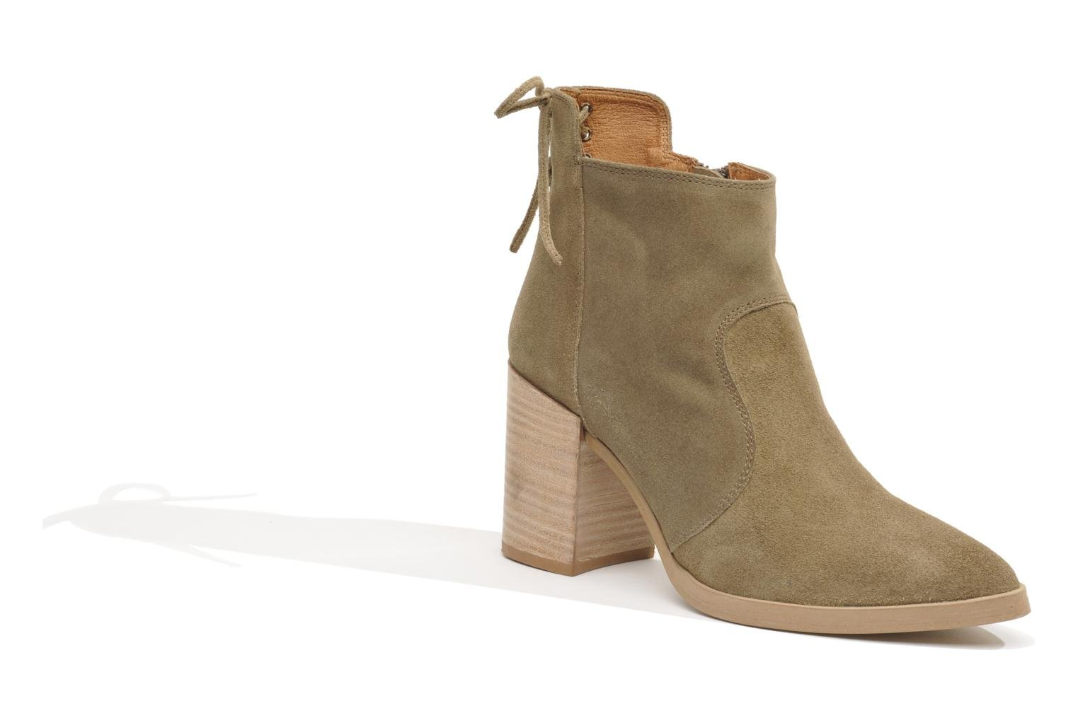 Ankle boots Made by SARENZA Buttes-Chaumont #2 Beige front view