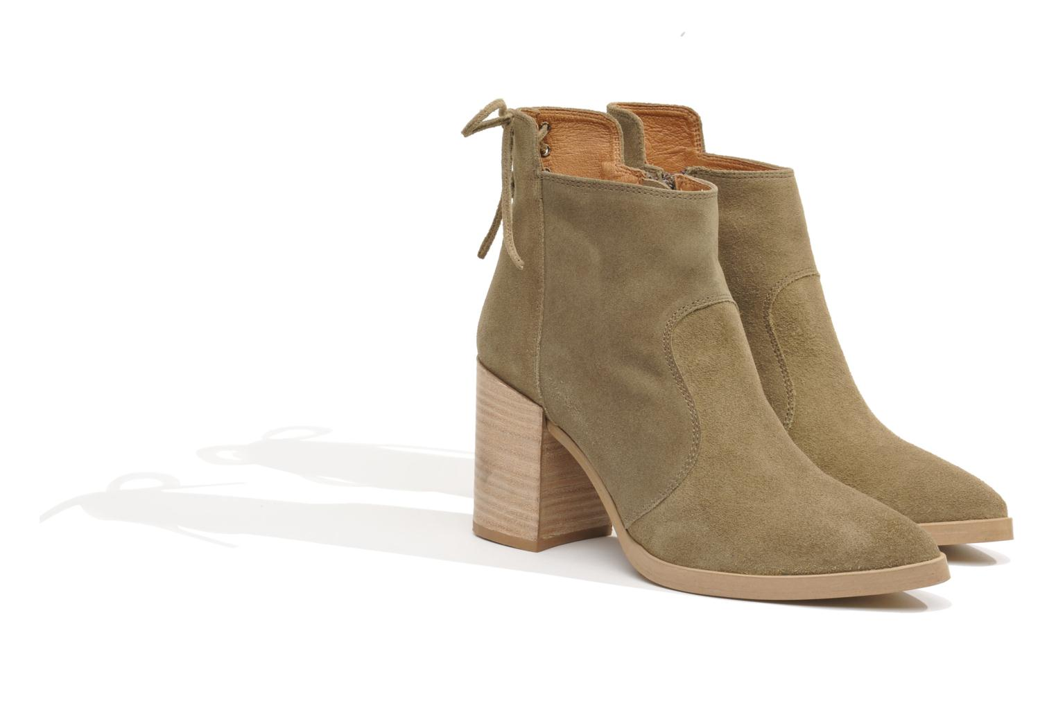 Ankle boots Made by SARENZA Buttes-Chaumont #2 Beige view from the right