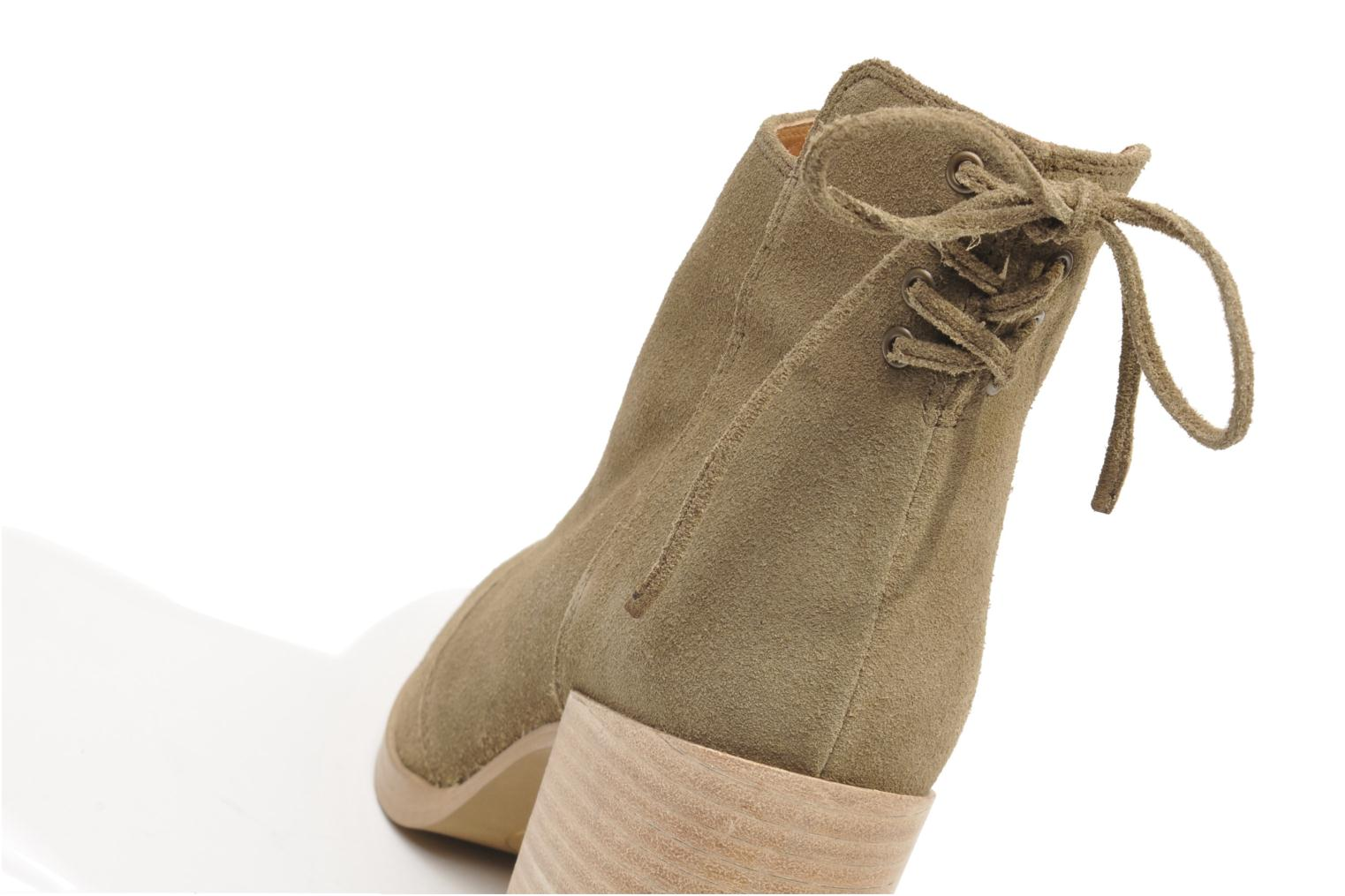 Ankle boots Made by SARENZA Buttes-Chaumont #2 Beige back view