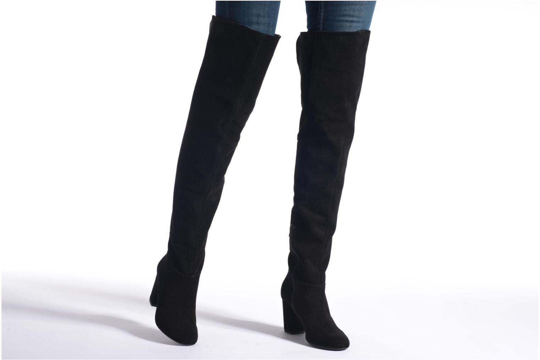 Stiefel Made by SARENZA Boots Camp #13 schwarz ansicht von unten / tasche getragen