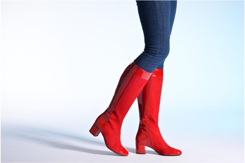 Stiefel Made by SARENZA Boots Camp #4 rot ansicht von unten / tasche getragen