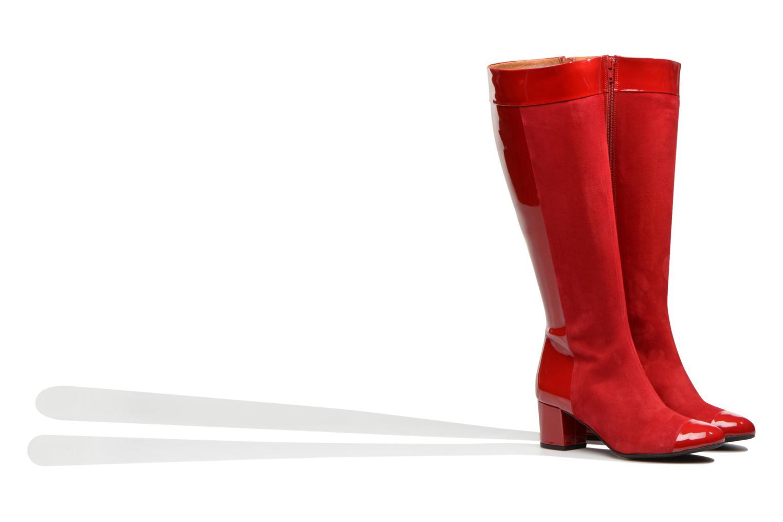 Stiefel Made by SARENZA Boots Camp #4 rot ansicht von hinten