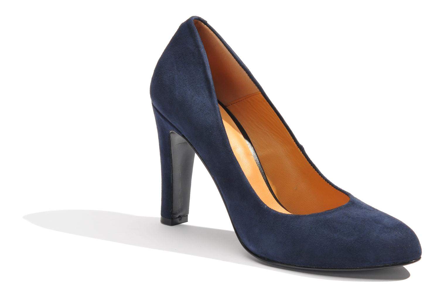 High heels Made by SARENZA Glaçons citrons #18 Blue view from the right