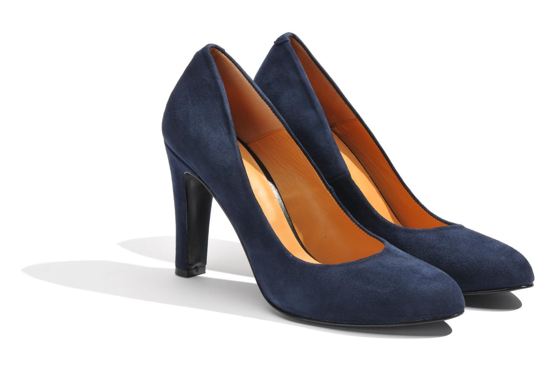 Escarpins Made by SARENZA Glaçons citrons #18 Bleu vue derrière