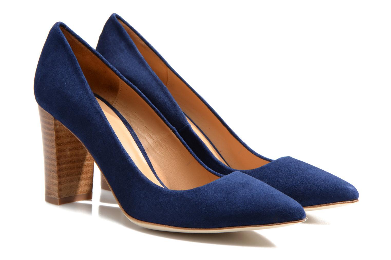 Escarpins Made by SARENZA Glaçons citrons #16 Bleu vue derrière