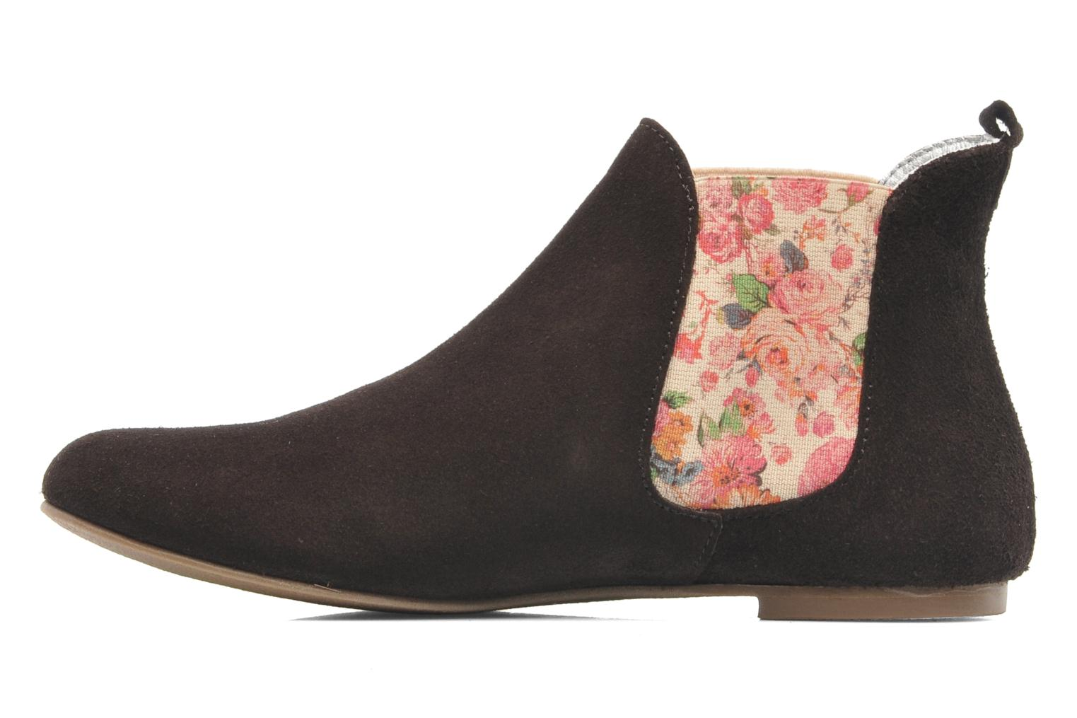 Ankle boots Ippon Vintage sun flower Brown front view