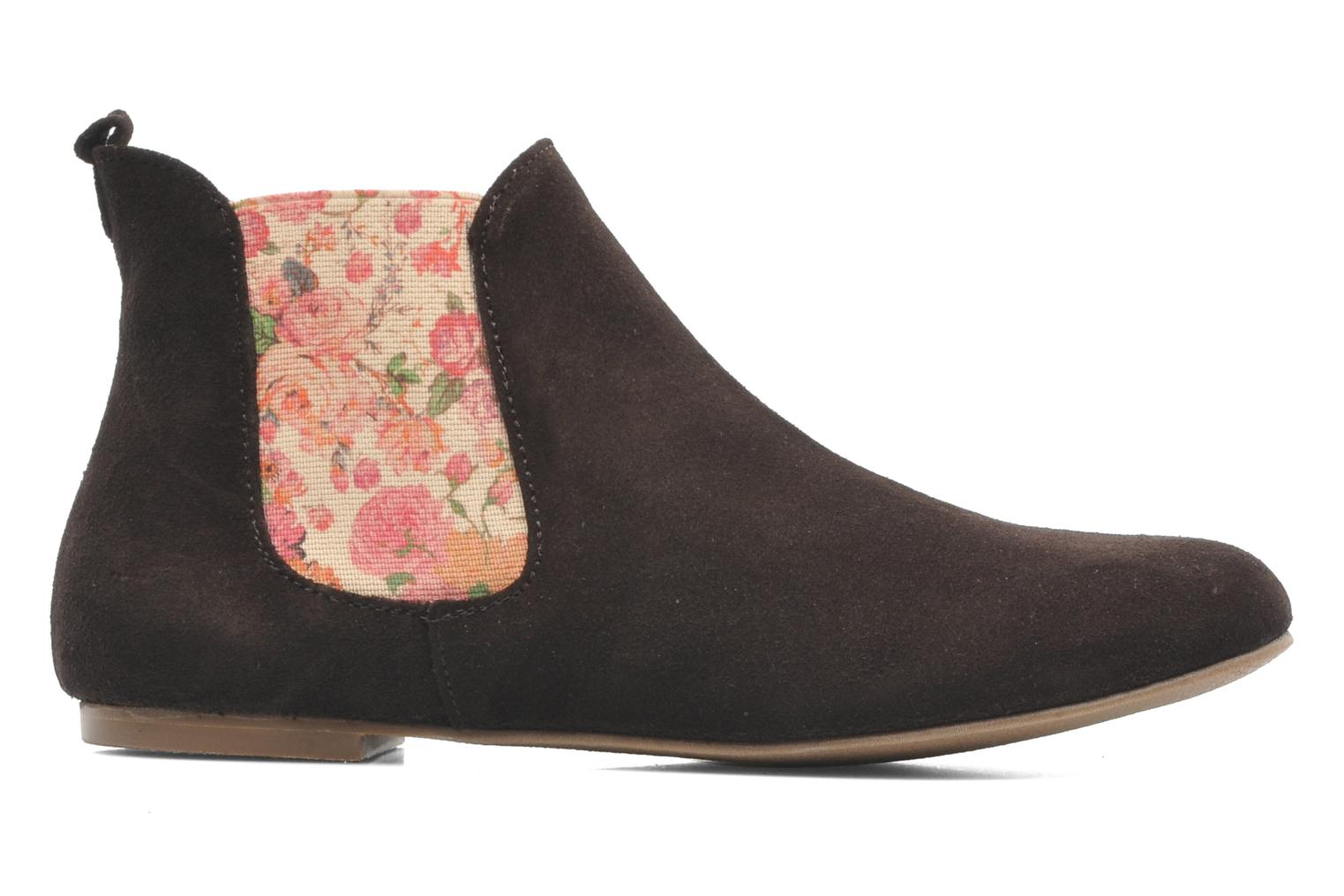 Ankle boots Ippon Vintage sun flower Brown back view