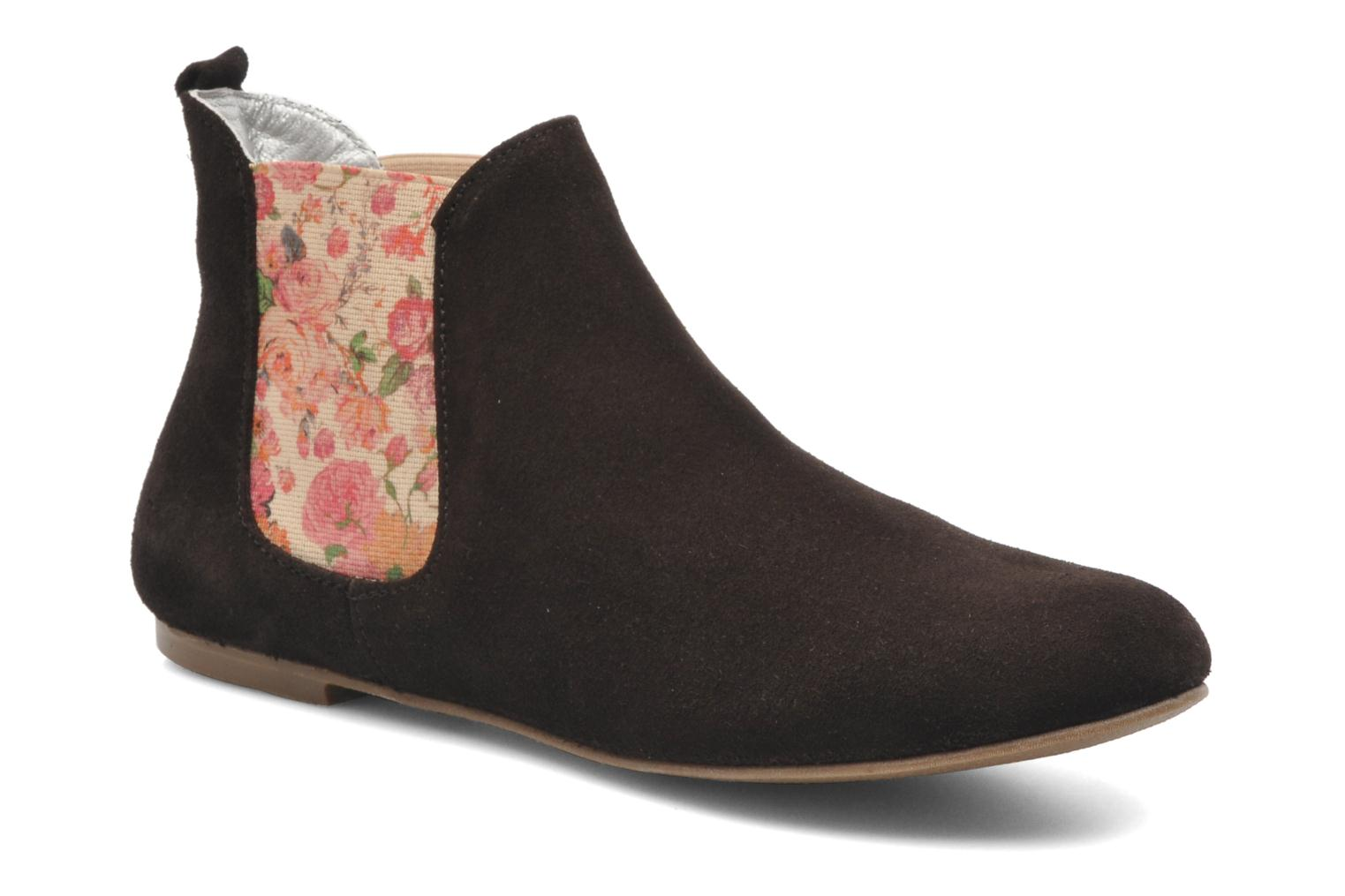 Ankle boots Ippon Vintage sun flower Brown detailed view/ Pair view