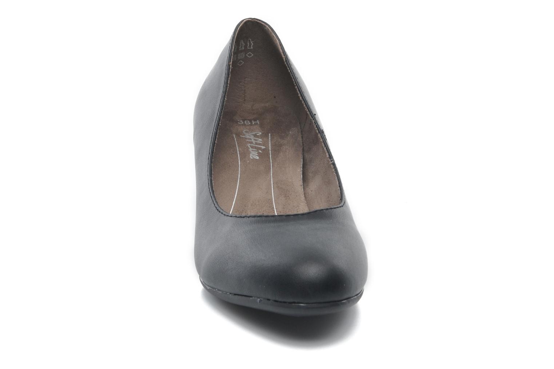 Décolleté Jana shoes Anis Nero modello indossato
