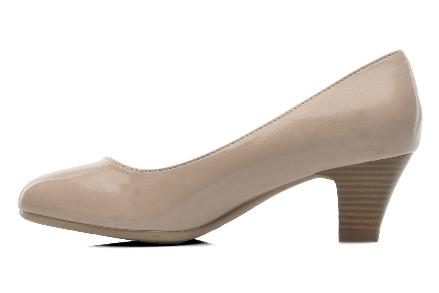 High heels Jana shoes Anis Beige front view