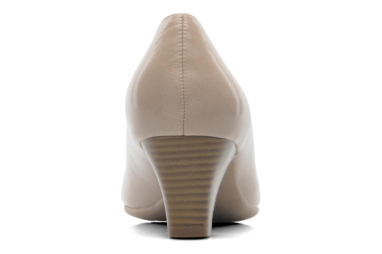 High heels Jana shoes Anis Beige view from the right