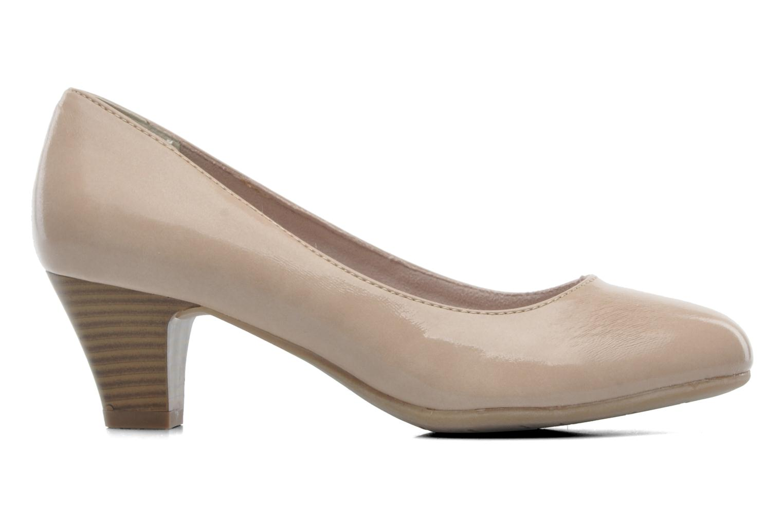 High heels Jana shoes Anis Beige back view