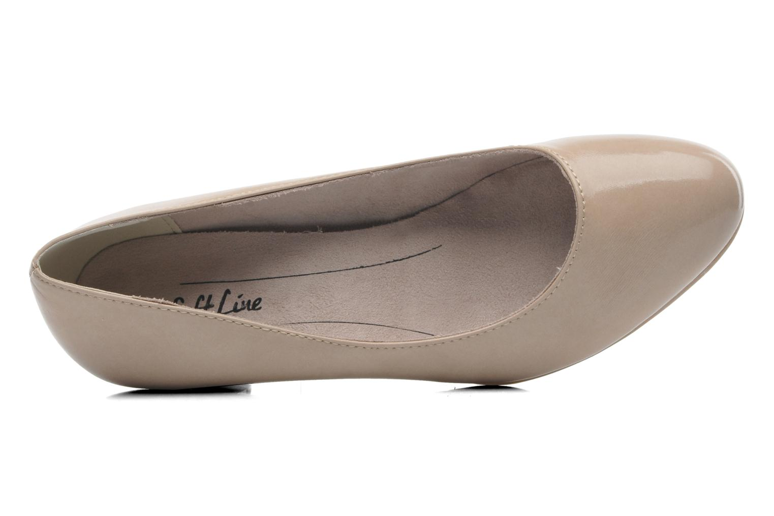 High heels Jana shoes Anis Beige view from the left