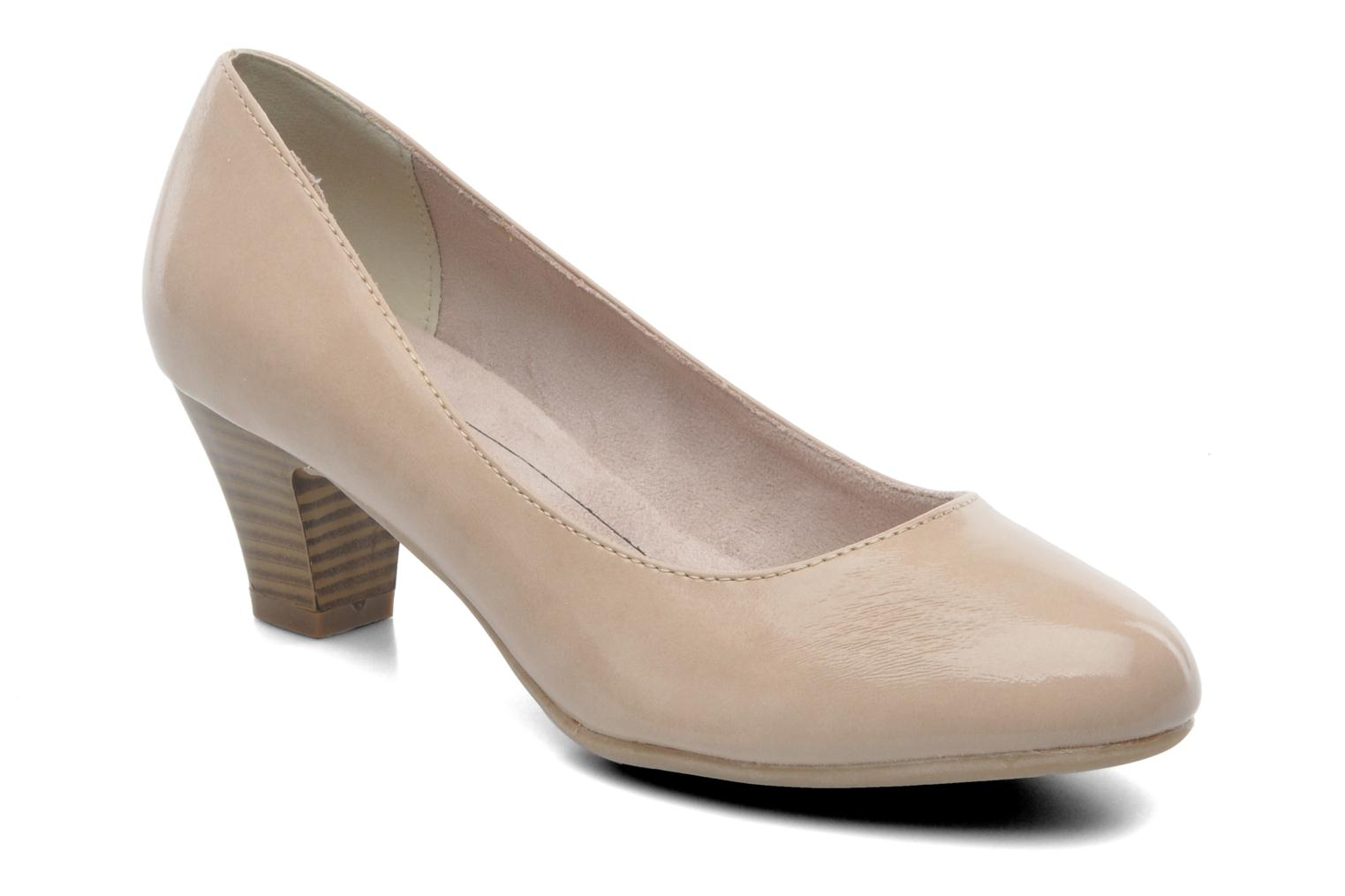 High heels Jana shoes Anis Beige detailed view/ Pair view